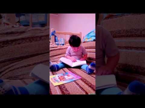 Данила учиться читать!!!Ура!)