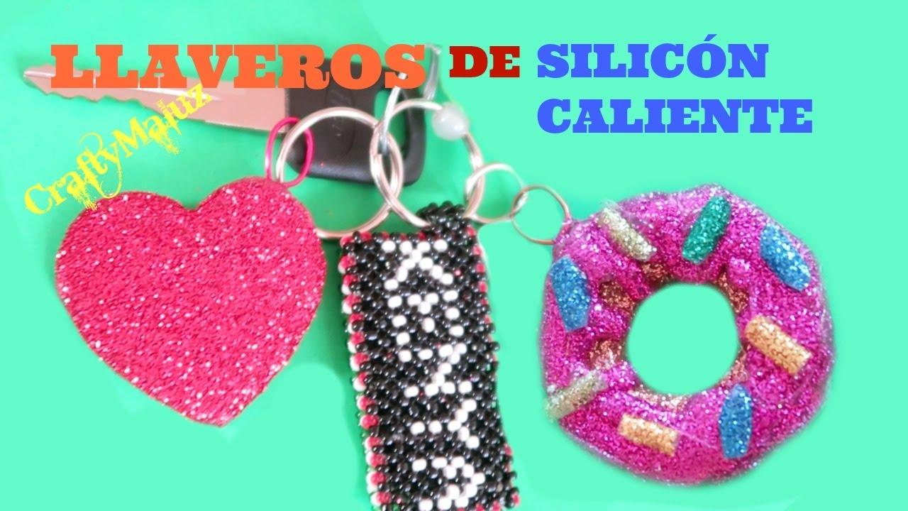 Llaveros o colgantes de silicona caliente tutorial f cil - Manualidades con silicona ...