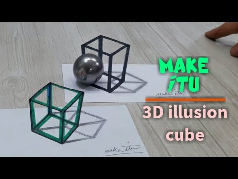 HOW TO DRAW 3D ILLUSION CUBE