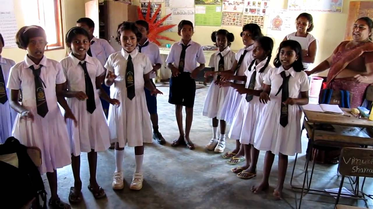 Village School In Malawila Sri Lanka