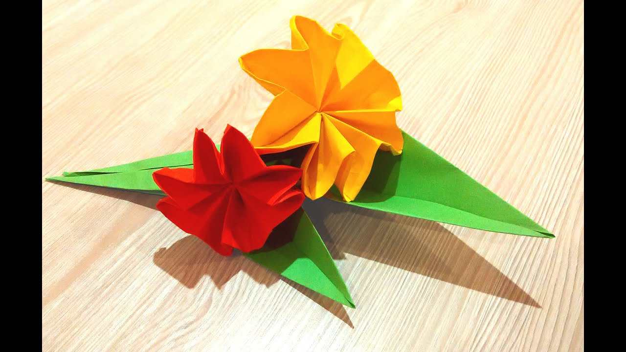 Easy Origami Flower Great Ideas For Christmas Decor Paper Bouquet