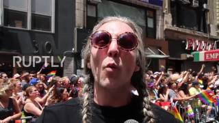 USA: Tens of thousands take part in NYC anti-Trump Pride March thumbnail