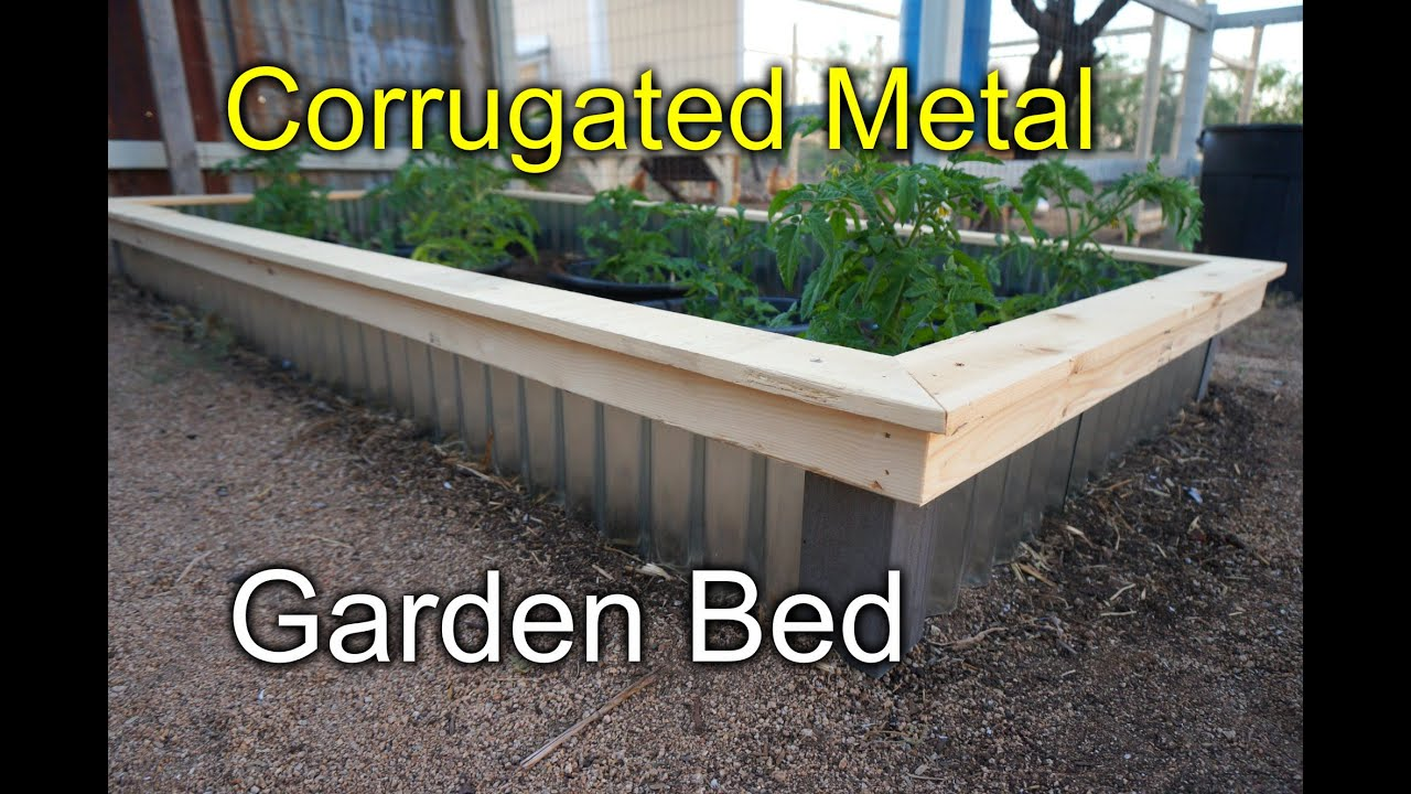 Corrugated raised beds for my garden - New Style! - YouTube