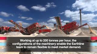 terex finlay 863 883 and j1175 jaw crusher at earthline shipton quarry site