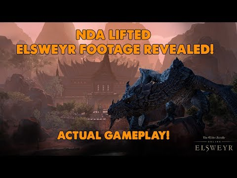 ESO - Early In Game Footage of The Necromancer & Elsweyr!