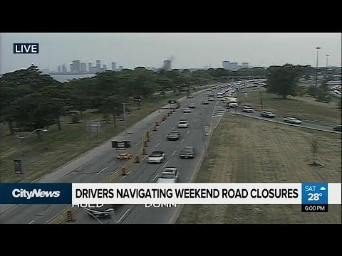 Drivers navigate weekend road closures in Toronto