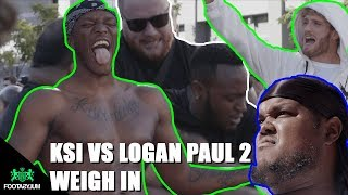CHUNKZ WATCHES IT KICK OFF AT KSI VS LOGAN PAUL 2 WEIGH IN