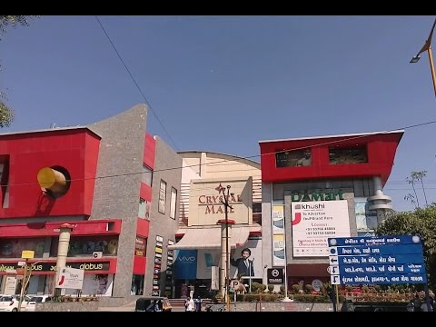 Quick Tour of Famous Crystal Mall Rajkot- Gujarat India