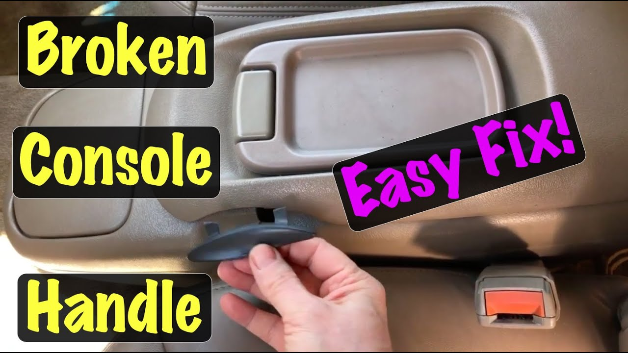 1995 96 97 98 99 Gm Truck Suv Center Floor Console Handle Latch Repair Chevy Gmc Youtube