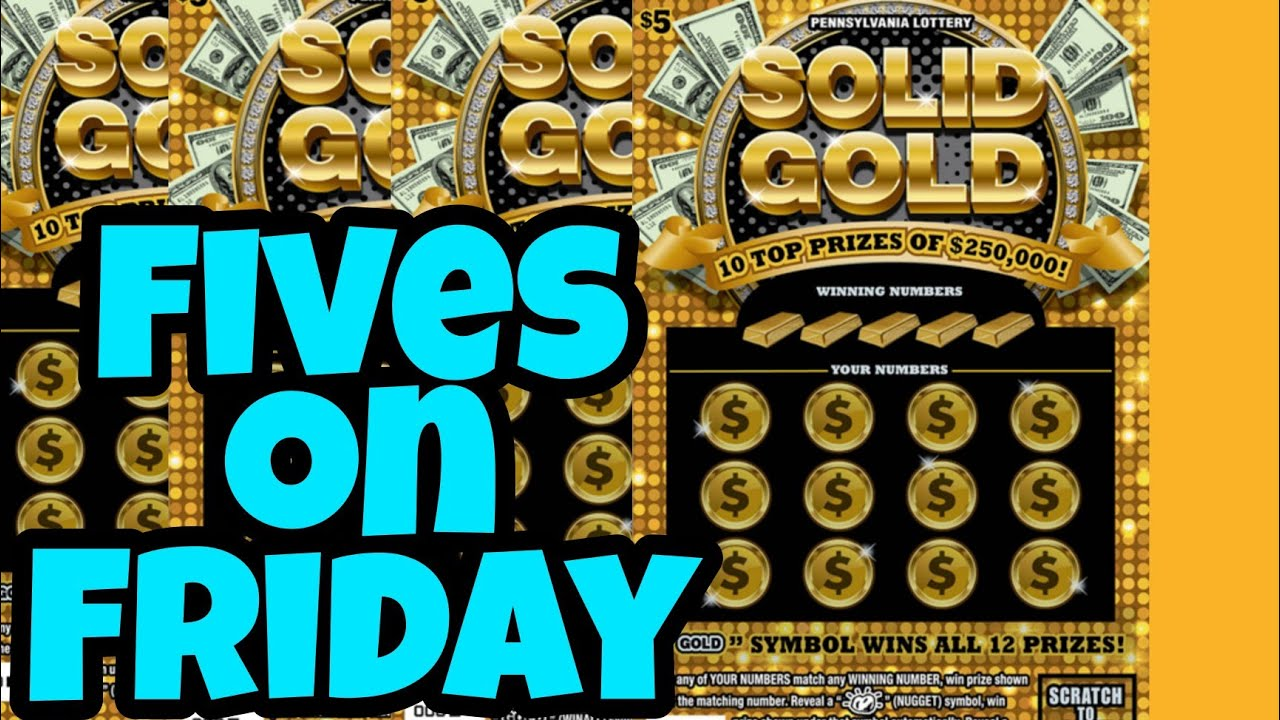 Pa Lottery 🔴 Solid Gold Scratch Off Tickets!