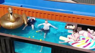 Laurie Lawrence doing it Container Pool Style!