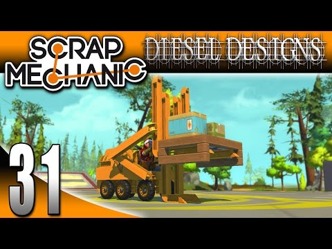 Scrap Mechanic Gameplay : EP31: Forklift and New Horn Block! (Let