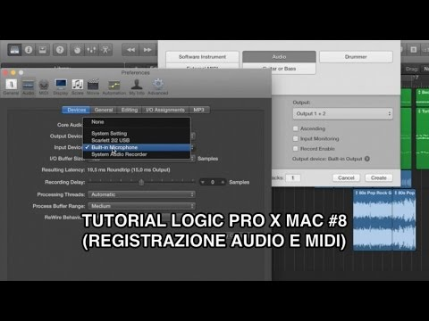 Come registrare l'audio con Logic Pro X | Guida per Principianti