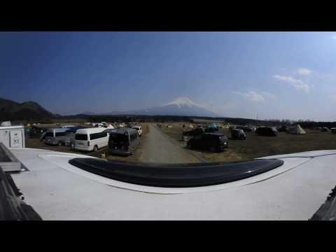 ふもとっぱらキャンプ場、360°動画
