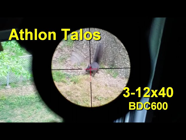 Athlon Talos 3-12x40 BDC 600 Reticle - FirstPersonReview