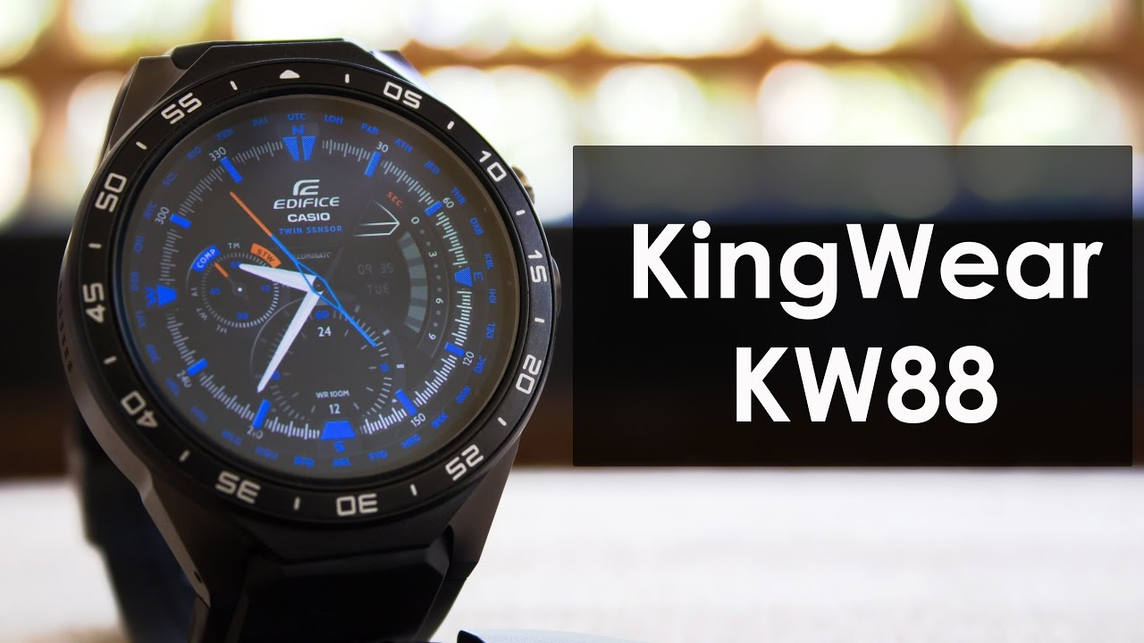 KingWear KW88 Review Battery test, a High Quality Budget Android Smartwatch  Under 100$ !!