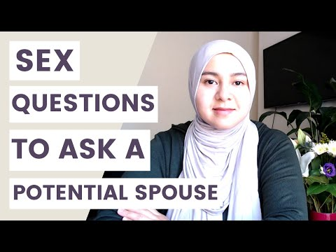 QUESTIONS BEFORE MARRIAGE (sex talk with potential spouse)