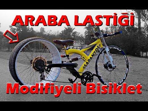 BİSİKLET MODİFİYE VOL.2 // ARABA LASTİKLİ BİSİKLET