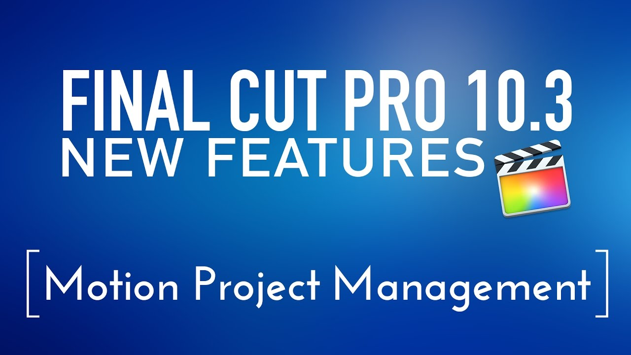 how to open final cut project in motion