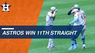 Astros win their 11th straight game thumbnail