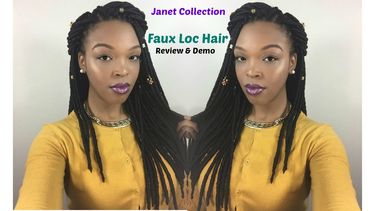 Janet Collection Crochet Faux Locs Hair Review Demo Youtube