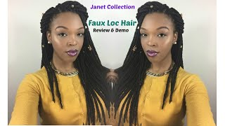janet collection crochet faux locs hair review demo