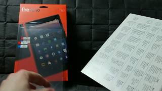 Amazon Fire HD 10 Tablet: NuPro AntiGlare Screen Protector bubbly installation and first impression