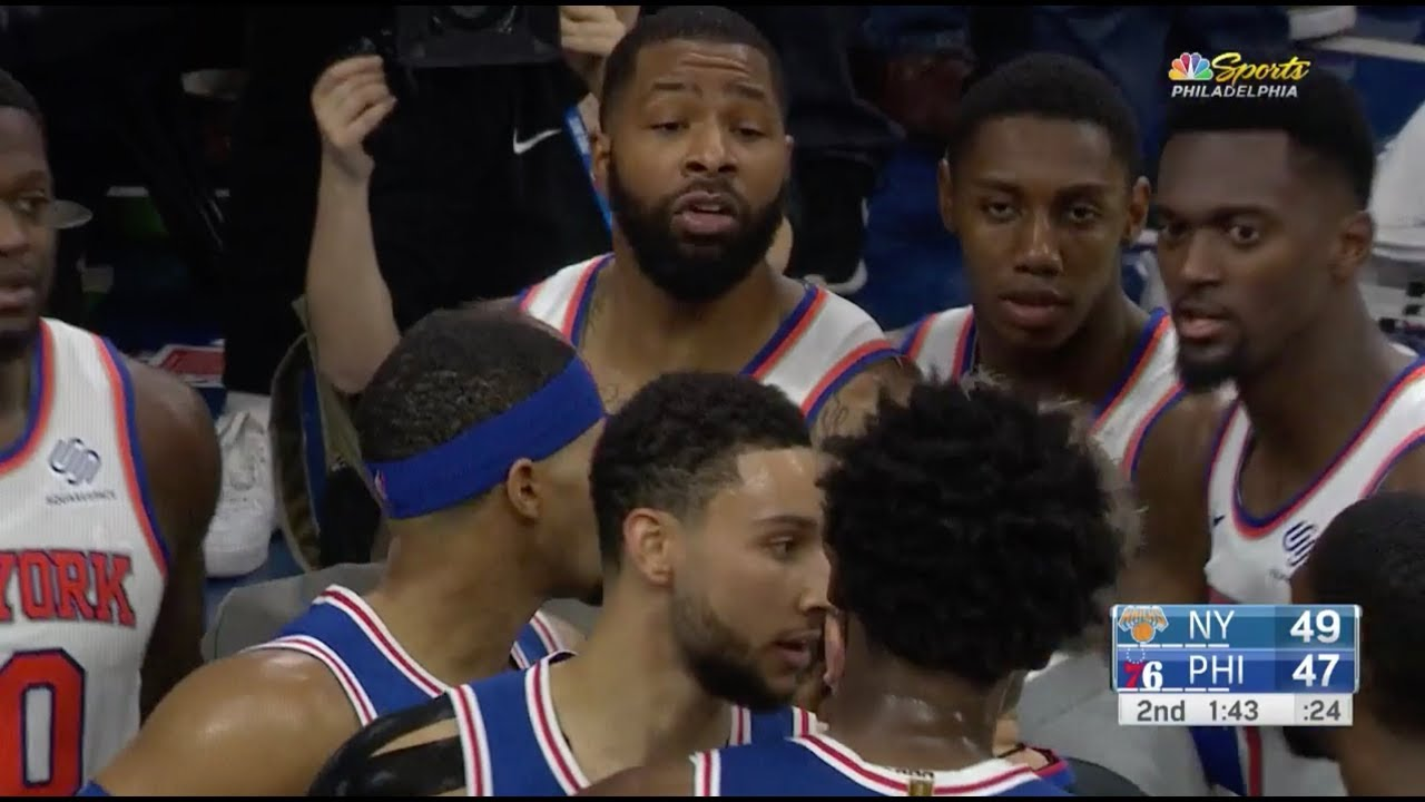 Marcus Morris Threw Down Joel Embiid They Both Got In Each Other S Face Youtube