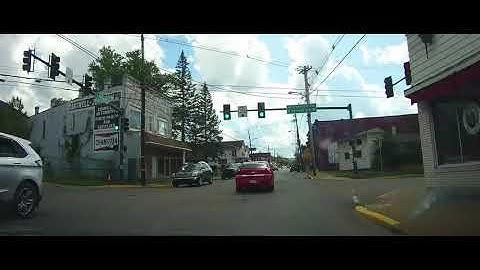 Driving through Bradford, Pennsylvania