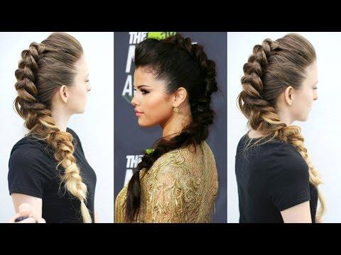 Selena Gomez Inspired Fawk Hawk hairstyle | Celebrity Hairstyles | Braidsandstyles12