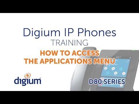 Digium D80 IP Phones Training   How to Access the Applications Menu