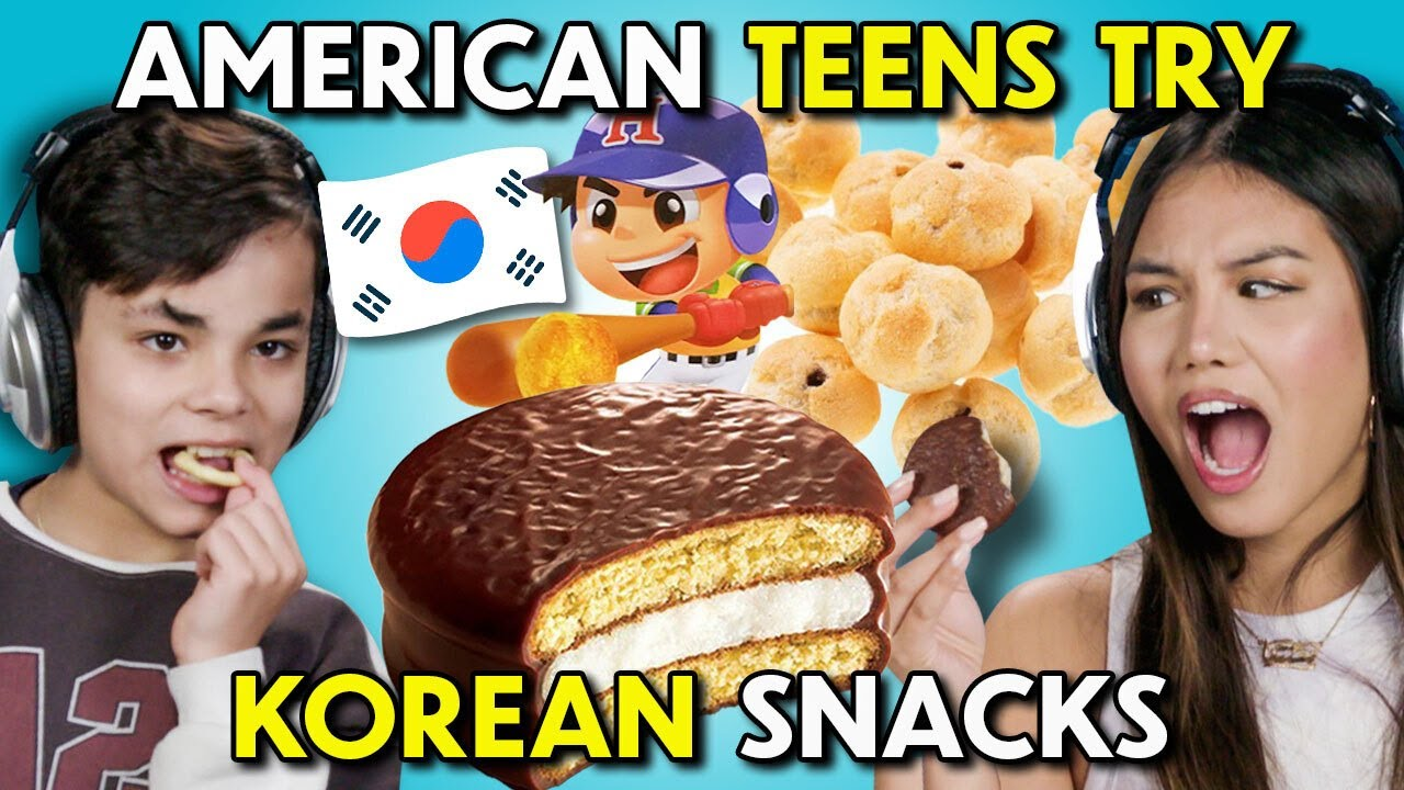 American Teens Try Korean Snacks!   People Vs Food