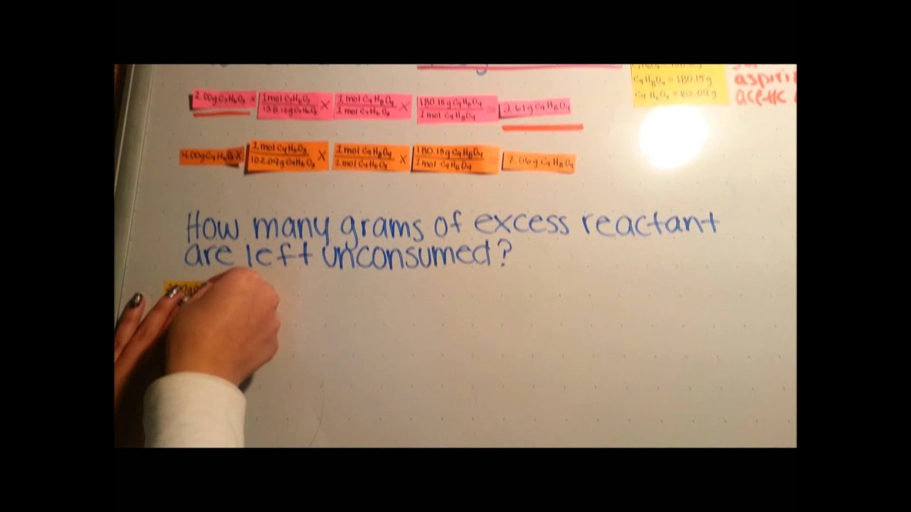 Mc Stem Video Contest Finding Limiting And Excess Reactant Theoretical Yield Percent Yield