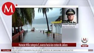 Huracán 'Willa' categoría 5, avanza hacia las costas de Jalisco