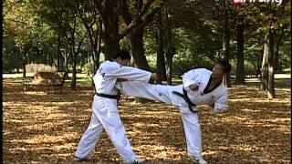 Taekwondo Step by Step Ep176 Taegeuk 7 Jang Oreunbal yop-chagi 오른발 옆차기