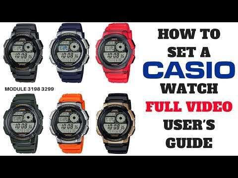 HOW TO SET A CASIO WATCH FULL VIDEO USER'S GUIDE