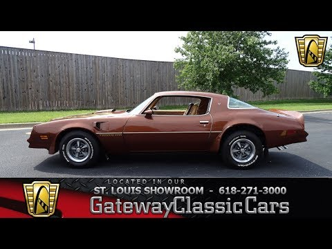 1978 Pontiac Firebird Trans Am Stock #7801 Gateway Classic Cars St. Louis Showroom