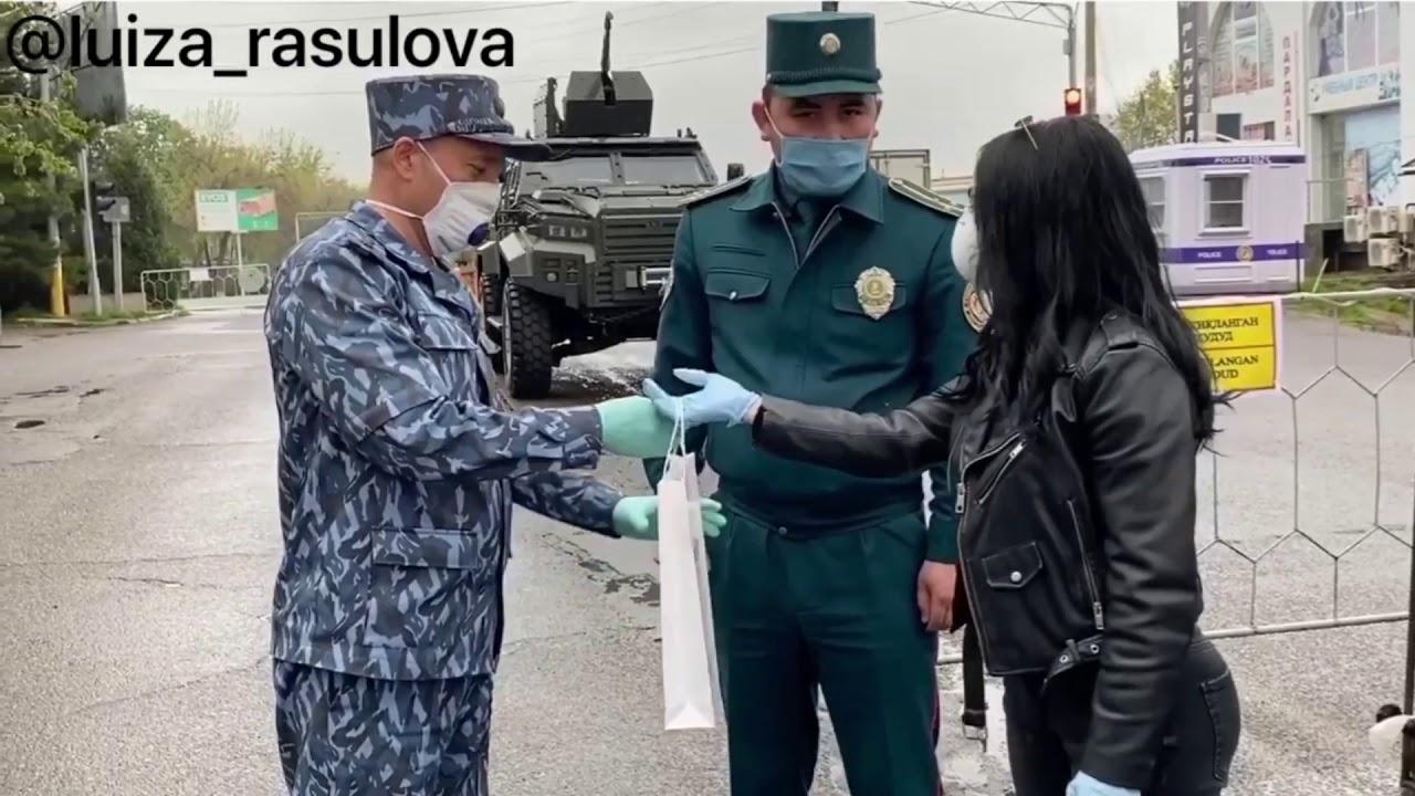 Luiza Rasulova karantin vaqtida ko'chada YPX hodimlari bilan nimalar qilmoqda
