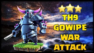 TH9 GOWIPE (Golem + Wizard + Pekka) War Attack Strategy 2018 | Part 3 | Clash of Clans