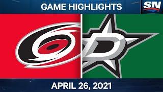 NHL Game Highlights   Hurricanes vs. Stars - Apr. 26, 2021