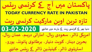 TODAY CURRENCY RATE IN PAKISTAN II TODAY 03 FEBRUARY 2020 US DOLLAR RATE IN PAKISTAN II USD TO PKR