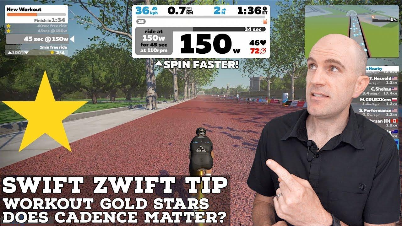 Swift Zwift Tip: Workout Mode Gold Stars // Does Cadence Matter?