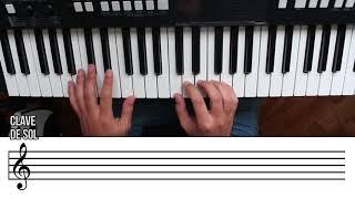 Como leer el Pentagrama. Primeros ejercicios fáciles para la mano derecha. Curso de Piano 3