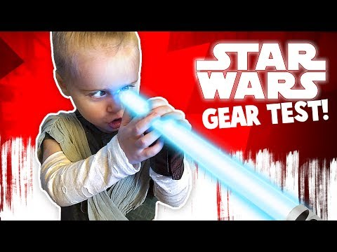 Star Wars: The Last Jedi Movie Gear Test! Kids with Lightsabers!