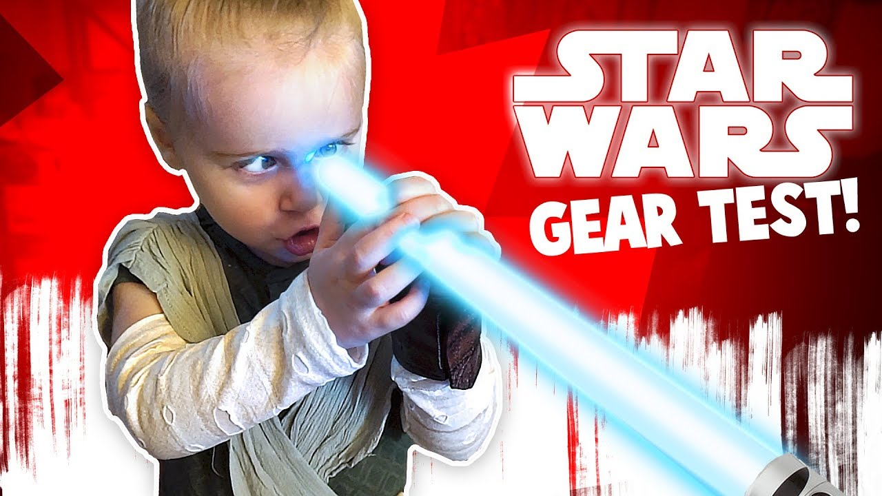 Star Wars: The Last Jedi Movie Gear Test! Kids with Lightsabers! KidCity