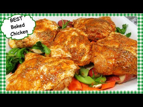 The BEST Oven Baked Chicken Recipe ~ One Pan Baked Chicken Dinner