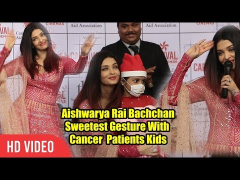 Aishwarya Rai Bachchan Celebrating Christmas With Cancer Patients Aid Association