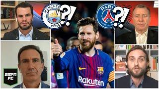 Si LIONEL MESSI se va del Barcelona, ¿cómo podría jugar con el Manchester City o el PSG? | ESPN FC