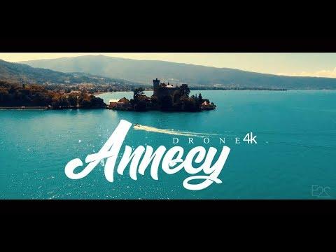 Annecy Vue D'en Haut - 4K - Lac D'Annecy