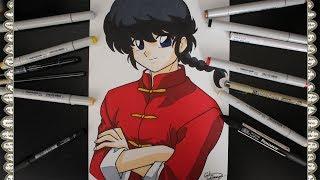 Cómo Dibujar a Ranma Saotome Chico How To Draw Ranma Nihao Mi Concubina Speed Draw | CarlosNaranjoTV
